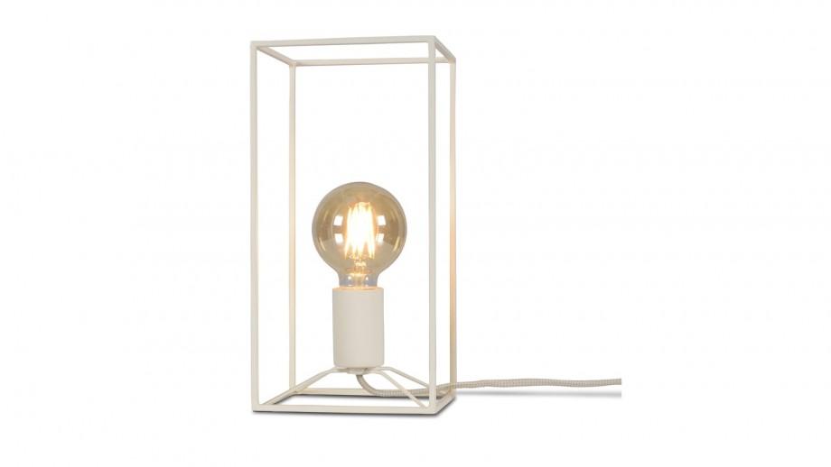 Lampe de table rectangle en métal blanc - Collection Antwerp - It's About Romi