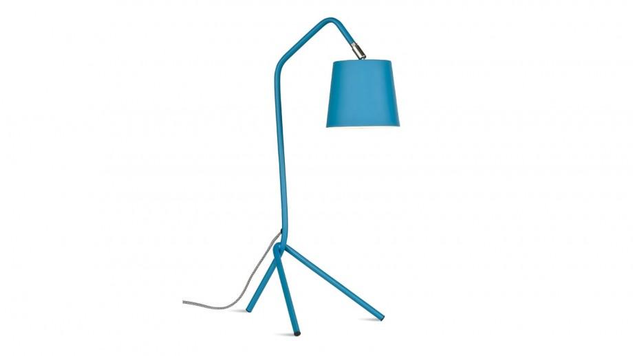 Lampe à poser sur pied en métal bleu - Collection Barcelona - It's About Romi