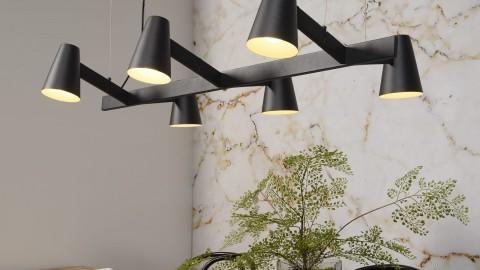 Suspension 6 branches en métal noir - Collection Biarritz - It's About Romi