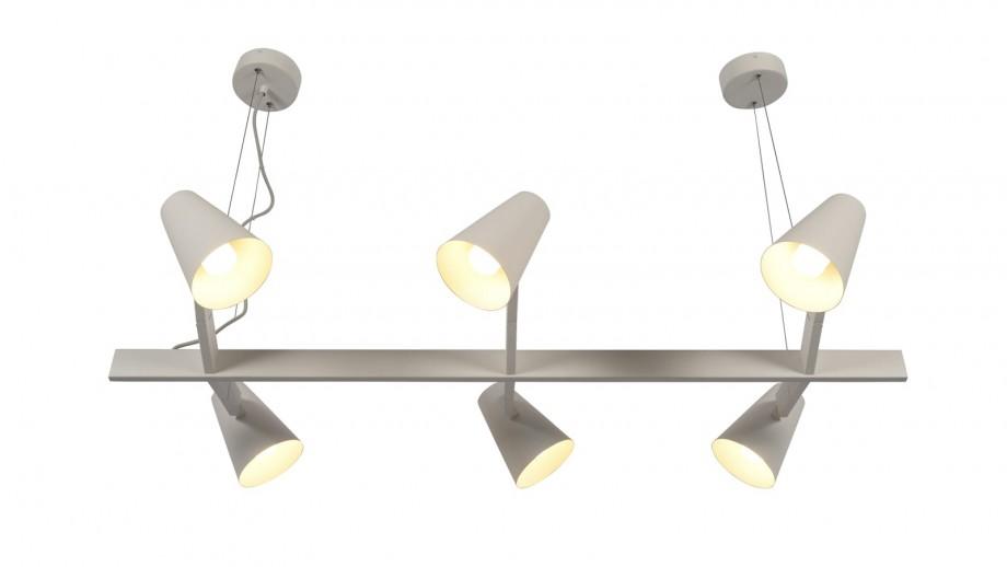 Suspension 6 branches en métal blanc - Collection Biarritz - It's About Romi