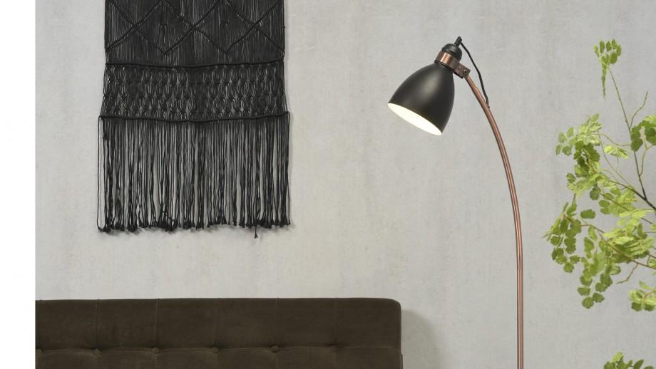 Lampadaire base en ciment structure en métal cuivré et noir - Collection Denver - It's About Romi