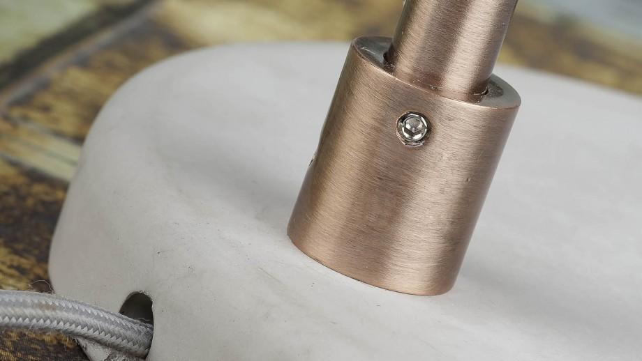 Lampadaire base en ciment structure en métal cuivré et menthe - Collection Denver - It's About Romi