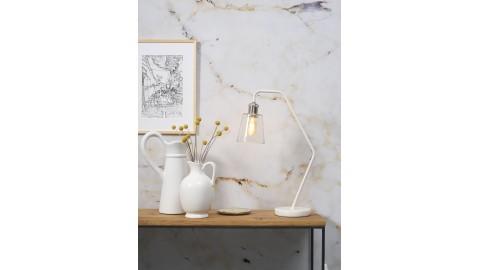 Lampe à poser en marbre blanc et verre - Collection Paris - It's About Romi