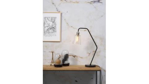 Lampe à poser en marbre noir et verre - Collection Paris - It's About Romi