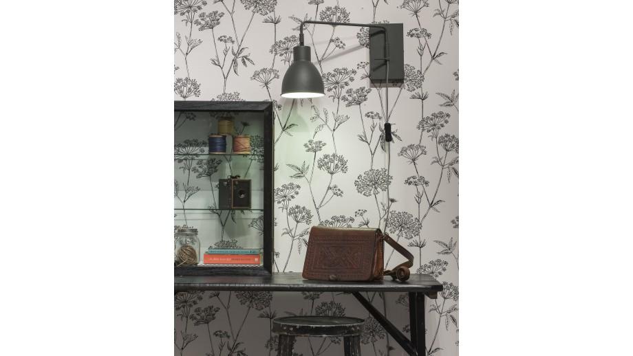 Applique murale en métal gris - Collection Nottingham - It's About Romi