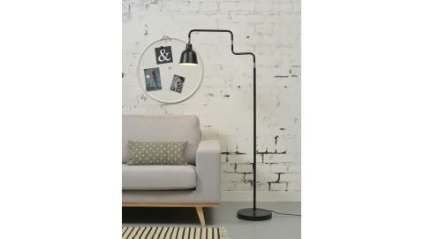 Lampadaire tube en métal noir - Collection London - It's About Romi