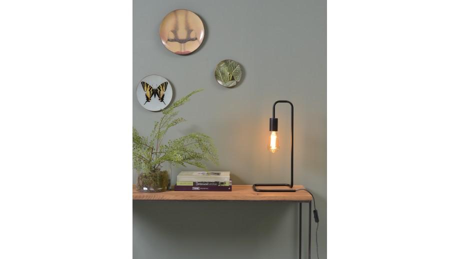Lampe à poser tube en métal noir - Collection London - It's About Romi