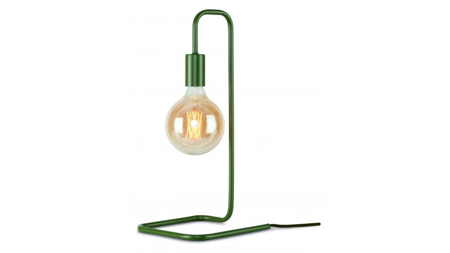 Lampe à poser tube en métal vert olive - Collection London - It's About Romi