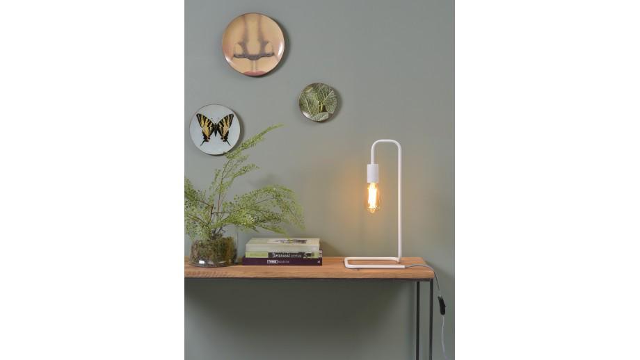 Lampe à poser tube en métal blanc - Collection London - It's About Romi