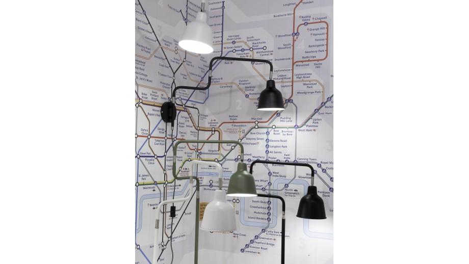 Applique murale tube en métal noir - Collection London - It's About Romi