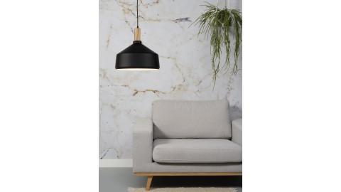 Suspension en bois et métal noir - Taille L - Collection Melbourne - It's About Romi