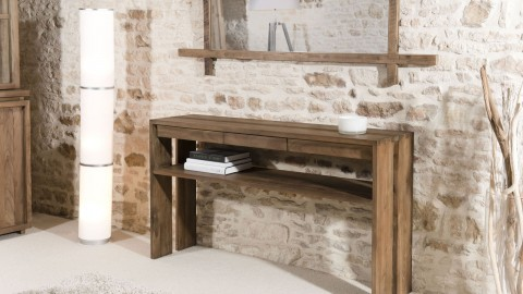 Console 3 tiroirs en teck - Collection Sixtine