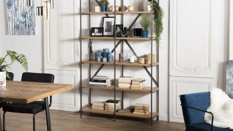 Etagère 5 niveaux en bois et métal - Collection Carla