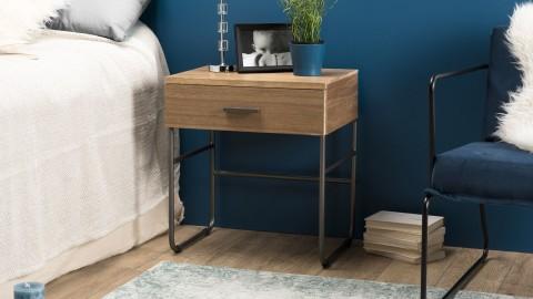 Chevet 1 tiroir bois et métal - Collection Carla