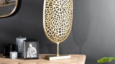 Décoration sculpture en aluminium doré - Collection Johan