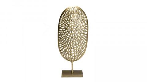 Décoration sculpture en aluminium doré - Johan