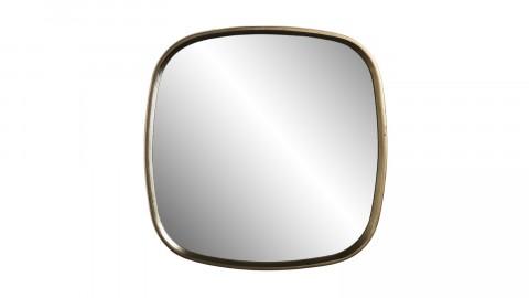 Miroir coins arrondis en aluminium doré - Collection Johan