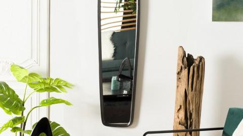 Miroir en aluminium noir - Collection Johan
