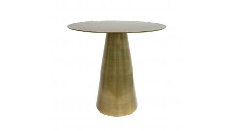 Table d'appoint ronde en métal brossé doré - HK Living