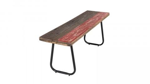 Banc 130x35cm en bois recyclé piètement en métal - Collection Nora
