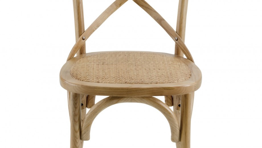 Køfe - Lot de 2 Chaises style Vintage, coloris naturel, structure en orme, assise en agathis naturel