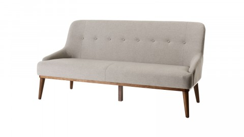 Canapé 2 places en tissu gris - Collection Nelson