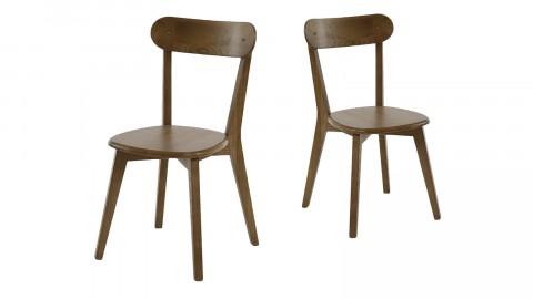 Køfe - Lot de 2 chaises style Vintage en orme, assise carrée