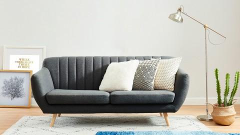Canapé scandinave 3 places en tissu gris anthracite - Collection Camille
