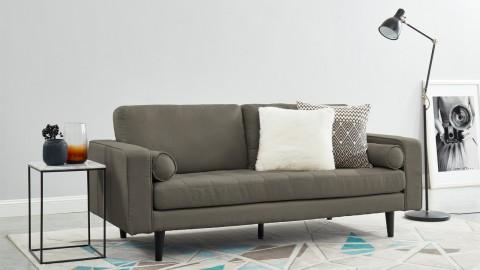 Canapé droit 3 places en tissu crème - Collection Charly