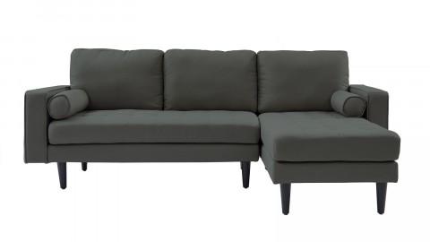 Canapé d'angle réversible 3 places en tissu gris souris - Collection Charly