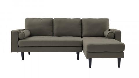 Canapé d'angle réversible 3 places en tissu gris clair - Collection Charly