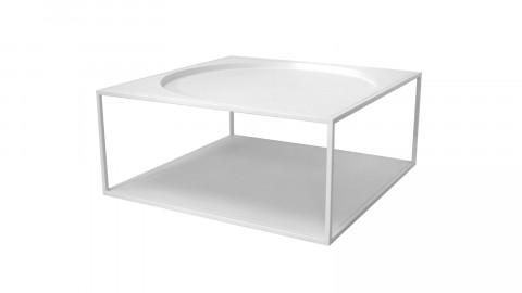 Table basse carrée en métal blanc - HK Living