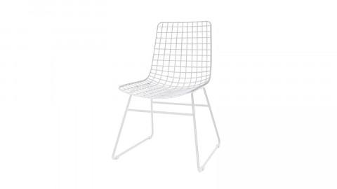 Lot de 2 chaises en métal blanc - HK Living