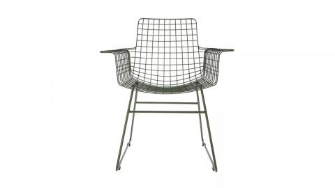 Lot de 2 fauteuils en métal vert - HK Living