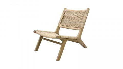 Chaise détente en roseau tissé structure en bois - HK Living
