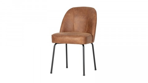Chaise en cuir cognac - Vogue - BePureHome
