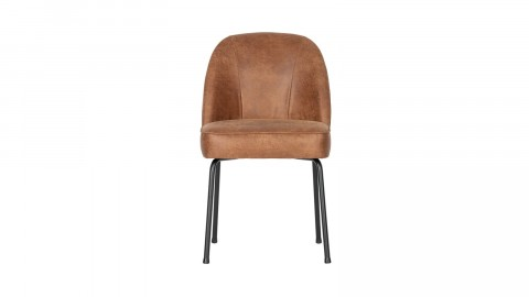 Chaise en cuir cognac - Collection Vogue - BePureHome