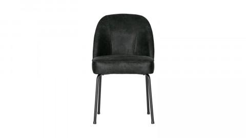 Chaise en cuir noir - Collection Vogue - BePureHome