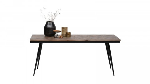 Table à manger en bois et métal 180x90cm - Collection Rhombic - BePureHome
