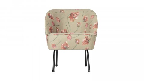Fauteuil en velours fleuri agave - Collection Vogue - BePureHome