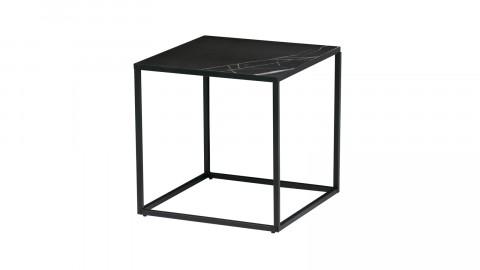 Table d'appoint 45x45 en marbre noir - Collection Side - Vtwonen
