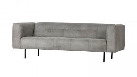 Canapé 2,5 places en simili cuir gris clair - Collection Skin - Vtwonen