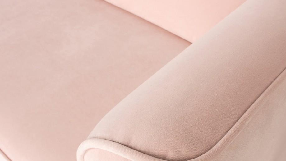 Canapé 3 places en velours rose poudré - Collection Studio - Vtwonen