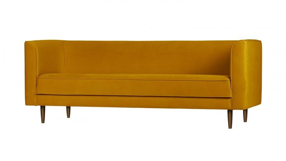 Canapé 3 places en velours ocre - Collection Studio - Vtwonen