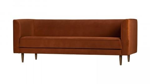 Canapé 3 places en velours rouille - Collection Studio - Vtwonen