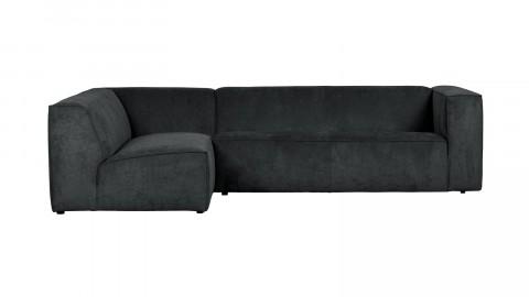 Canapé 5 places d'angle gauche en tissu côtelé anthracite - Collection Lazy - Vtwonen