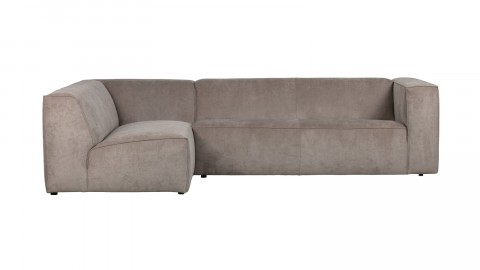 Canapé 5 places d'angle gauche en tissu côtelé kaki - Collection Lazy - Vtwonen