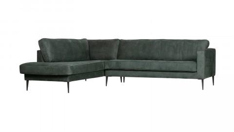 Canapé 5 places d'angle gauche en simili cuir petrole - Collection Crew - Vtwonen
