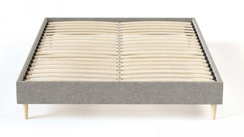 Sommier à lattes 140x200 tissu déco gris clair - Collection Chouette