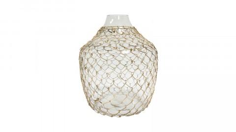 Vase en verre recouvert d'osier - HK Living